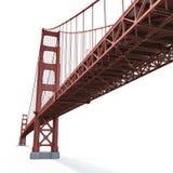 Golden gate bridge no branco ilustração 3D ilustração do vetor