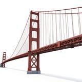 Golden gate bridge no branco ilustração 3D Fotos de Stock