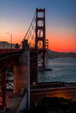 Golden gate bridge no crepúsculo Imagem de Stock Royalty Free