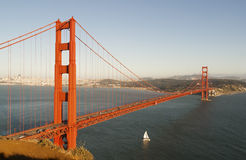 Golden gate bridge no por do sol Fotografia de Stock