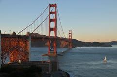 Golden gate bridge no por do sol San Francisko Fotos de Stock
