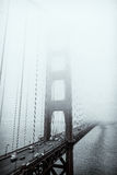 Golden gate bridge noir et blanc, San Francisco Photographie stock
