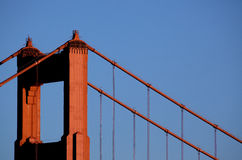 Golden gate bridge-Nordturm Stockfotos
