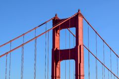 Golden Gate Bridge North Tower - San Francisco royalty free stock photo