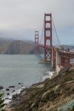 Golden Gate Bridge od Bateryjnego Cranston terenu 5 Obrazy Royalty Free