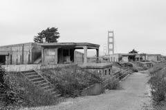 Golden Gate Bridge od Bateryjnego Cranston terenu 4 Zdjęcie Stock
