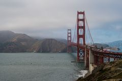 Golden Gate Bridge od Bateryjnego Cranston terenu 2 Zdjęcie Royalty Free