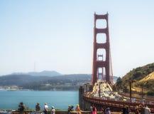 Golden gate bridge op 16 Augustus, 2017 - San Francisco, Californië, CA Royalty-vrije Stock Afbeelding