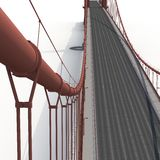 Golden gate bridge op wit 3D Illustratie Stock Foto