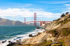 Golden gate bridge-oriëntatiepunt van San Francisco, Californië, de V.S. royalty-vrije stock afbeelding