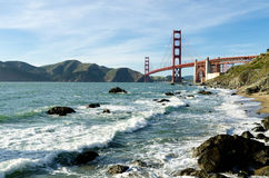 Golden gate bridge-oriëntatiepunt in San Francisco California de V.S. Stock Afbeelding