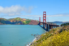 Golden Gate Bridge, over Pacific Ocean, beautiful landscape. Stock Image