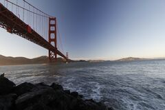 Golden Gate Bridge over Water Royalty Free Stock Images