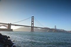 Golden gate bridge på solnedgången, San Francisco, Kalifornien USA arkivfoto