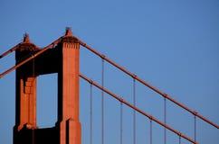 Golden Gate Bridge północy wierza Zdjęcia Stock