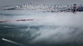 Golden Gate Bridge Pacific Fog royalty free stock images