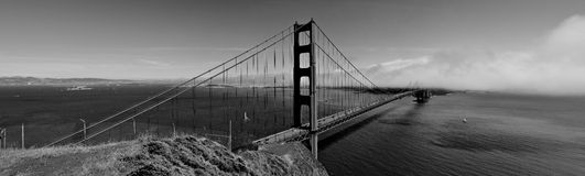 Golden Gate Bridge Panorama stock images