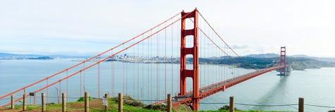 Golden Gate Bridge panorama Fotografia Royalty Free