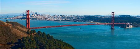 Golden Gate bridge panorama Royalty Free Stock Image