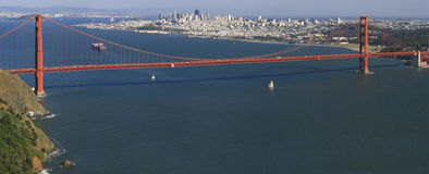 Golden Gate Bridge Panorama Royalty Free Stock Photos
