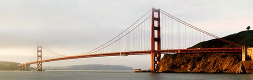 Golden Gate Bridge Panorama stock photos