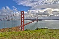 Golden gate bridge-Panoramablick Stockfotos