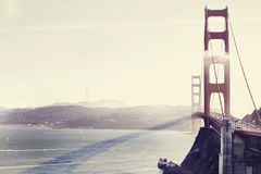 Golden Gate Bridge. Panoramic view of the Golden Gate Bridge Stock Image
