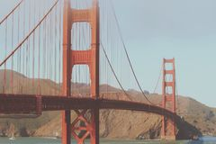 Golden Gate Bridge Photo at Daytime Stock Images