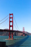 Golden Gate Bridge. Picture of the Golden Gate Bridge in San Francisco on a sunny day with clear skies Royalty Free Stock Photos