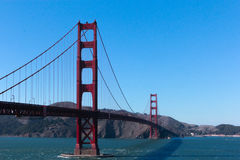 Golden Gate Bridge. Picture of the Golden Gate Bridge in San Francisco on a sunny day with clear skies Stock Image