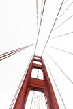 Golden Gate Bridge. This is a picture of the Golden Gate Bridge on a semi-foggy evening stock image