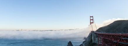 Golden Gate Bridge. Picture shows the Golden Gate Bridge Royalty Free Stock Photography