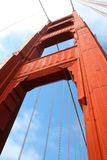 Golden gate bridge-Pijler Stock Afbeeldingen