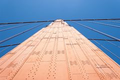 Golden Gate Bridge Pillar. San Francisco - The Golden Gate Bridge Stock Photography