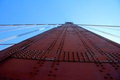 Golden Gate Bridge Pillar in San Francisco, California, USA Stock Photography