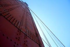 Golden Gate Bridge Pillar in San Francisco, California, USA Stock Images