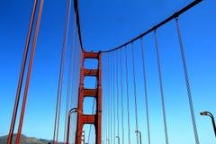 Golden Gate Bridge Pillar in San Francisco, California, USA Royalty Free Stock Photos