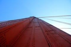 Golden Gate Bridge Pillar in San Francisco, California, USA Stock Photo