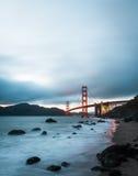 Golden gate bridge, punto di riferimento famoso in San Francisco California Fotografia Stock Libera da Diritti