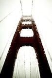 Golden Gate Bridge. Rainy, bridge-top view of the Golden Gate Bridge in San Francisco, California Royalty Free Stock Photo