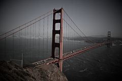 Golden Gate Bridge the RED royalty free stock images
