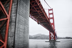 Golden gate bridge in red royalty free stock image