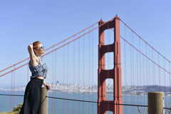 At Golden Gate Bridge Stock Photos