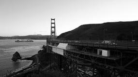 Golden gate bridge a regardé du point du nord de vue Photo stock