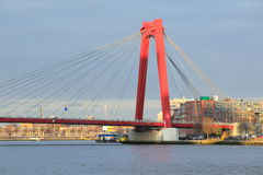 Golden Gate bridge in Rotterdam. The Willemsbrug also known as Golden Gate bridge in Rotterdam, Netherlands Stock Images