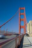 Golden Gate Bridge, San Francisco. Pedestrians and vehicles royalty free stock photos