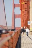 Golden Gate Bridge, San Francisco. Pedestrians and traffic royalty free stock photos