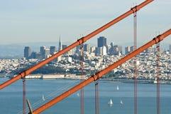 Golden Gate Bridge with San Francisco Stock Images