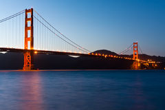The golden gate Bridge in San Francisco Stock Photos