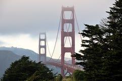 Golden Gate bridge in San Francisco. Golden Gate bridge  in San Francisco, in the usual fog Stock Photo